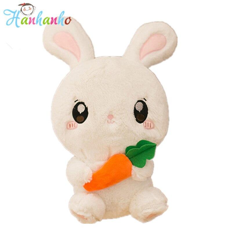 цены на Super Cute Rabbit Doll Kawaii Stuffed Animal Fluffy Bunny Plush Toy Children Birthday Gift Kids Present 40cm в интернет-магазинах