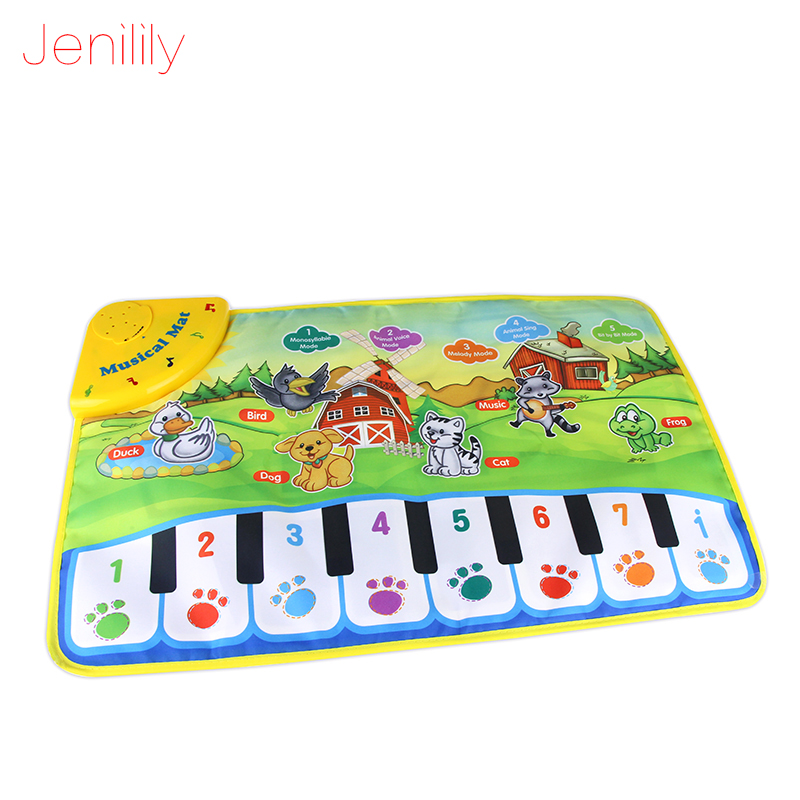 Jenilily 37x60cm Baby Piano Mats Music Carpets Animal Barking Pad to Play Baby Toys Learn 13-24 Months for Kids JN2302 ...