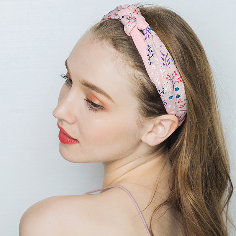 Candygirl New Bohemian Headwear 11 Colors Patchwork Floral Bow Knotted Headband National Elastic Hair Band Accessories for Women in Women 39 s Hair Accessories from Apparel Accessories