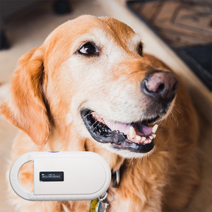 Image 1 - חיילים משוחררים נטענת סוללה כוח USB FDX B ID64 אוזן תג קטן מיני RFID חיות מחמד סורק עבור כלב חתול מזהה בעלי החיים microchip קורא