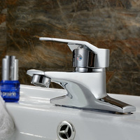 Wholesale And Retail Free Shipping Solid Brass Two Holes Basin Sink Mixer Faucet Single Handle Hot