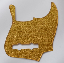 High quality 5 String Jazz Bass J Bass Pickguard Scratch Plate fits for Fender Gold Sparkle