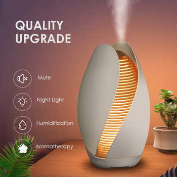 Beautiful Flower Bud Aroma Diffuser Ultrasonic Mute Air Humidifier DC24V 110ml Household Aromatherapy Essential Oil Diffuser - DISCOUNT ITEM  20% OFF All Category