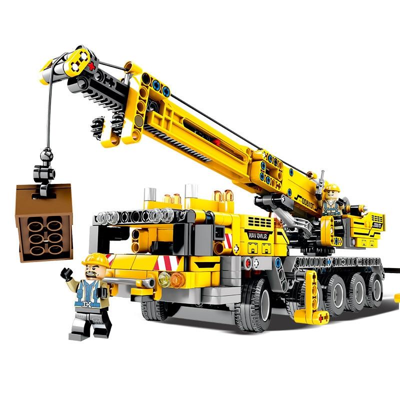 Compatible Legoinglys Technic 42009 City Engineering Mobile Crane Model Set Building Blocks Toys for Children Christmas Gift
