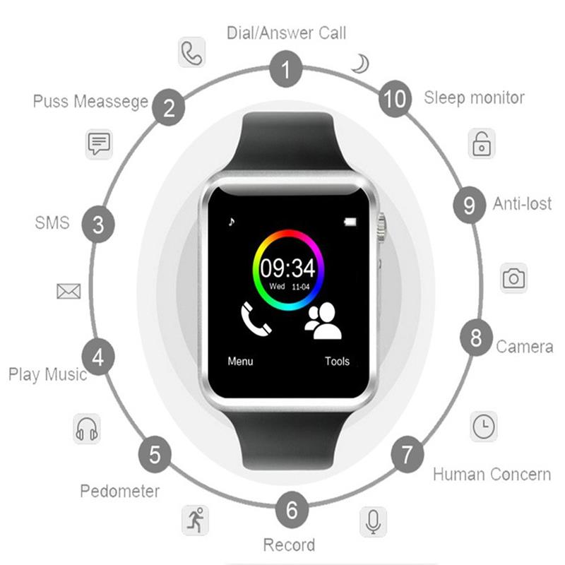 Bluetooth Smart Watch Smartwatch DZ09 Android Phone Call Relogio 2G GSM SIM TF Card Camera for iPhone Samsung HUAWEI PK GT08 A1 (18)