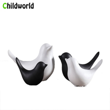 Modern Minimalist Nordic Ceramic Bird Figurines Home Decoration Accessories Sculpture Statue Animal Model Christmas Gifts
