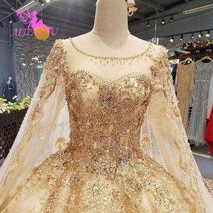Image 3 - AIJINGYU Wedding Dress Elegant Gowns Ball 2021 2020 Hot Lace Plus Size Rhinestone Modern Gown Bridal Designers