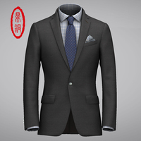 DINGTONG Spring Midweight Solid Wool Fabric Custom Fit Suit Men S Customized Top Quality Dress Suit