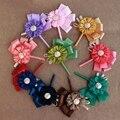 2pc Set Wedding Prom Corsages Ribbon Wrist flower Handmade Wedding boutonniere Groom Bridesmaid Groomsmen Boutonniere FE23