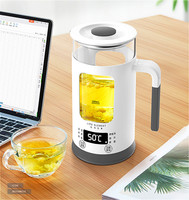 22%,Automatic Electric kettle visible teapot Smart touch Thicken glass health water bottle 600W 600ml Stainless steel base