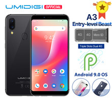 "Umidigi a3 android 9.0 banda global 5.5 ""incell hd + display 2gb + 16gb smartphone quad core 12mp + 5mp face desbloquear duplo 4g telefone móvel(China)"
