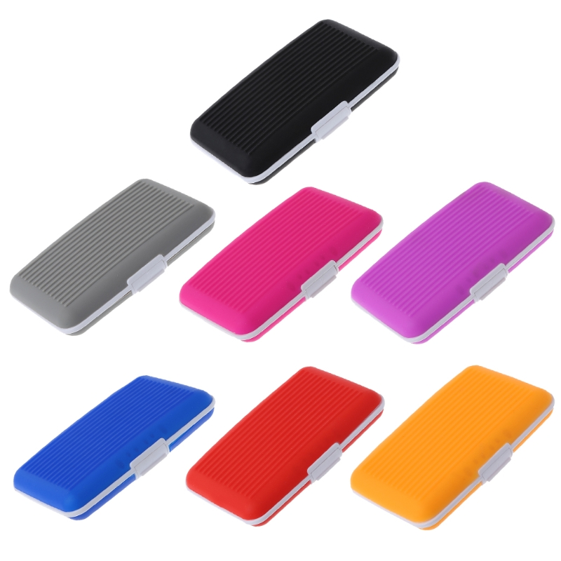 THINKTHENDO Men Women Business Silicone ID Credit Card Wallet Holder Purse Pocket Case ...