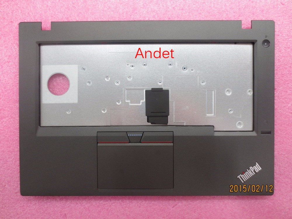 New Original Lenovo ThinkPad L450 Palmrest Keyboard Bezel Cover 00HT717 with Fingerprint Touchpad new original for lenovo thinkpad l530 palmrest cover with touchpad fingerprint 15 6 keyboard bezel upper case 04x4617 04w3635
