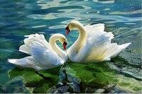 Diy Square Drill Modern Home Decor Diy Diamond Painting Swan Love Needlework 3d Full Diamond Embroidery