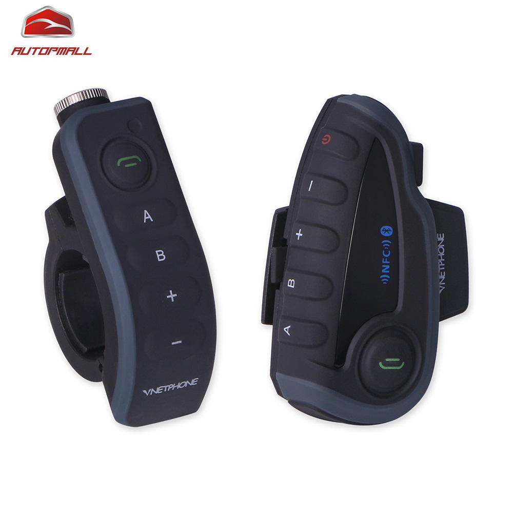 Bluetooth Motorcycle Interphone 5 Riders 1200M Vnetphone V8 Intercom Moto Remote Controller FM Ridio NFC Waterproof 530mA 2 pcs v8 motorcycle helmet intercom wireless headset bt interphone with fm nfc remote controller for 5 rirder talk at same time