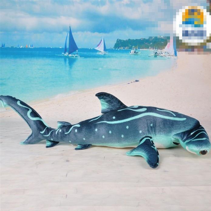 100cm-es méretű kalapácsfejű cápa plüss játék Szimulált cápa puha töltött baba magas minőségű plüss játékgyár-ellátás