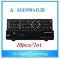 10pcs/lot High CPU Running Zgemma H.2H FTA Satellite Receiver With BCM7362 Dual Core Enigma2 DVB-S2+T2/C Hybrid PVR Tuners
