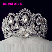 Горячая европейские проекты старинные павлин кристалл тиара свадебные аксессуары для волос свадьба Quinceanera горный хрусталь диадемы короны