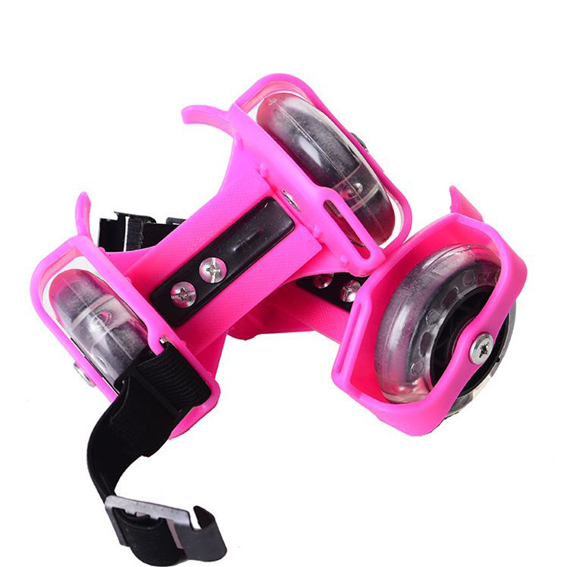 Adjustable Flashing Roller Skating Shoes For Kids Birthday Christmas Gifts Glowing Small Pulley Flash Wheel Roller Skates