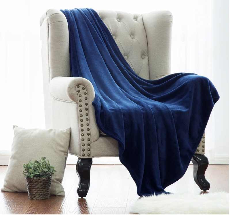 Blanket White Microfiber Fabric Throw Blanket Warm Coral Blankets Travel Flannel Sofa Fleece Blankets For Bed Warm Cobertor