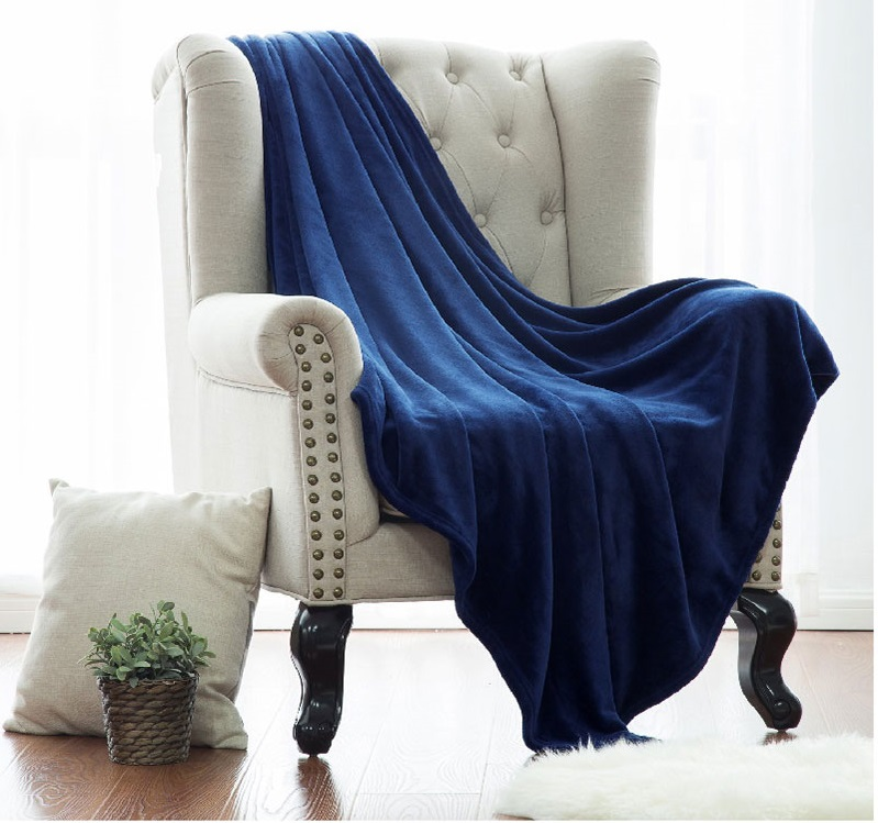 Blanket White Microfiber Fabric Throw Blanket Warm Coral Blankets Travel Flannel Sofa Fleece Blankets For Bed Warm Cobertor(China)