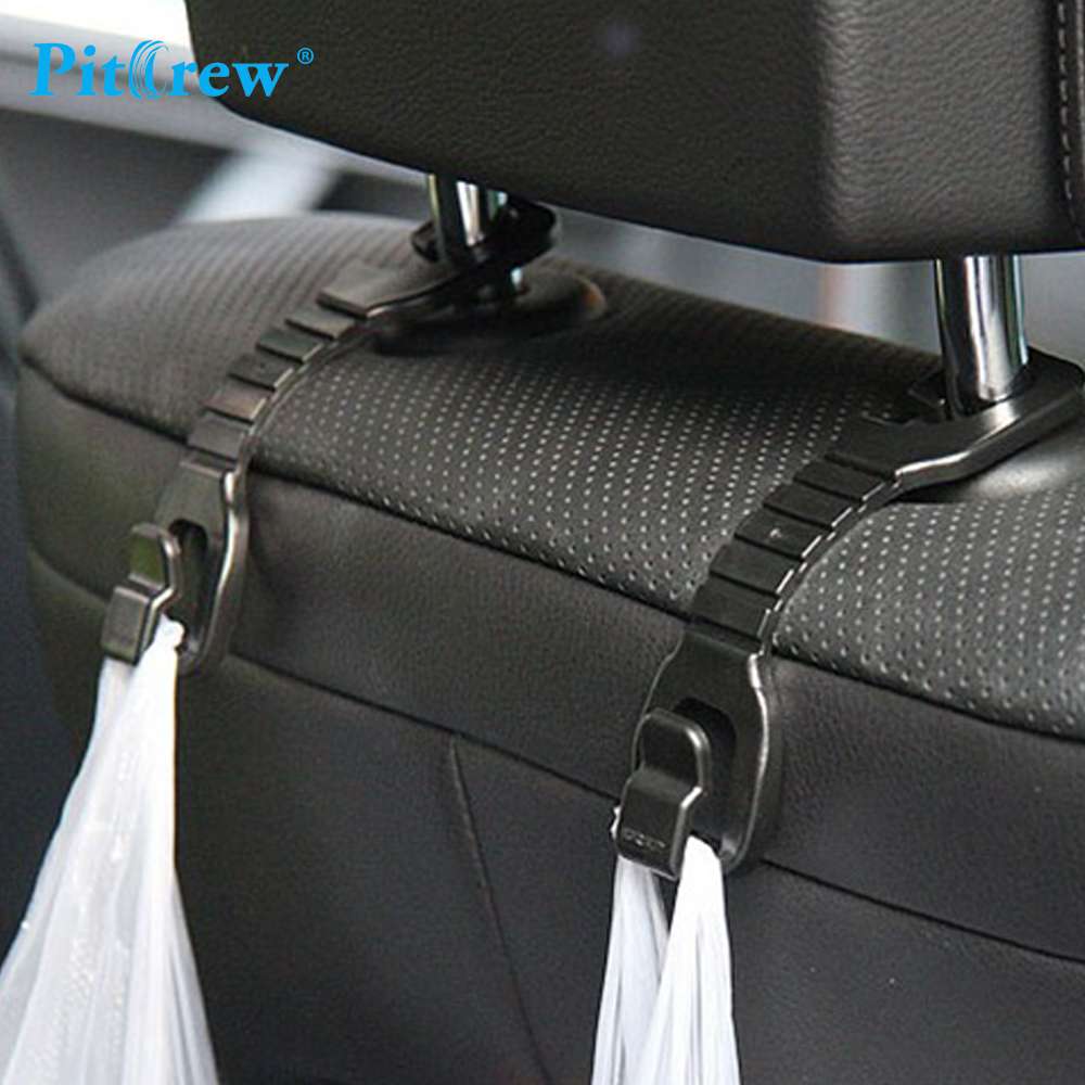 1 Pair Multi Use Universal Car Back Seat Headrest Hanger Holder Hook for Bag Purse Cloth Grocery Storage,Auto Fastener, Clip