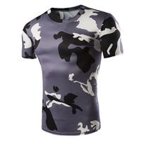 LumiParty Men Outdoor Sports Short-Sleeved Round-Neck Lightweight Sweat-Absorbent Breathable Quick-Drying T-Shirts Camouflage