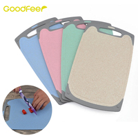 Goodfeer Wheat Straw Cutting Board Food Grade Chopping Blocks Antibacterial Non Slip Camping Cooking Mat Tool