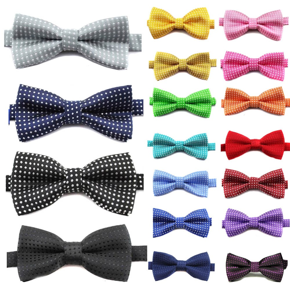 Mode Kinder Formale Baumwolle Fliege Kinder Klassische Dot Bowties Bunte Schmetterling Hochzeit Partei Bowtie Smoking Krawatten