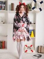 Sıcak Moda Cosplay Kostümler Kadın Japon Tarzı Kimono Giyim Bayanlar Güzel Kısa Kimono Çiçek