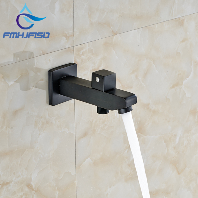 Oil Rubbed Bronze Modern Square Bathroom Tub Spout Wall Mounted Tap Spout NEW new tub spout wall mounted bathroom tub spout pool faucet tap golden brass