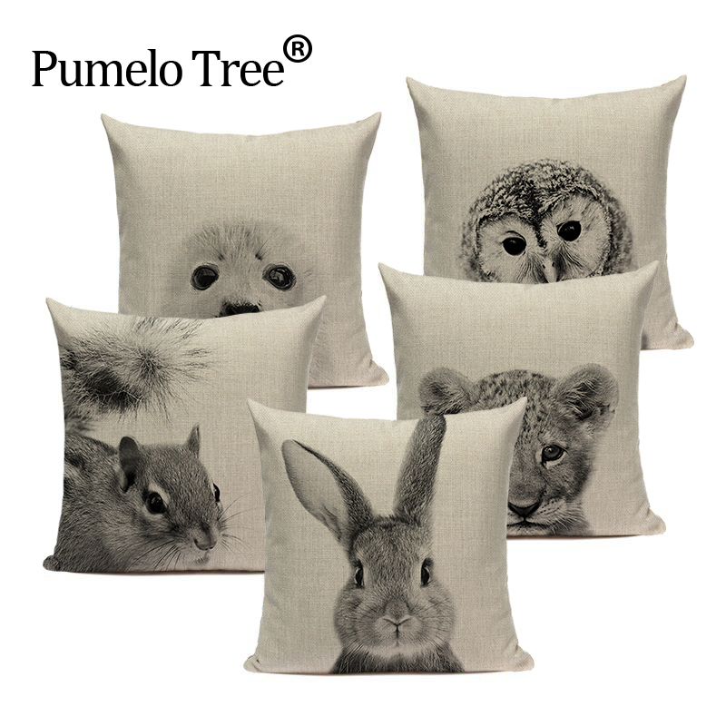 Thermal Usa Textile Kangaroo Hedgehog Monkey Sofa Car Decorative Pillow Square Sofa Home Car Decorative 1 Side Printing Pillows