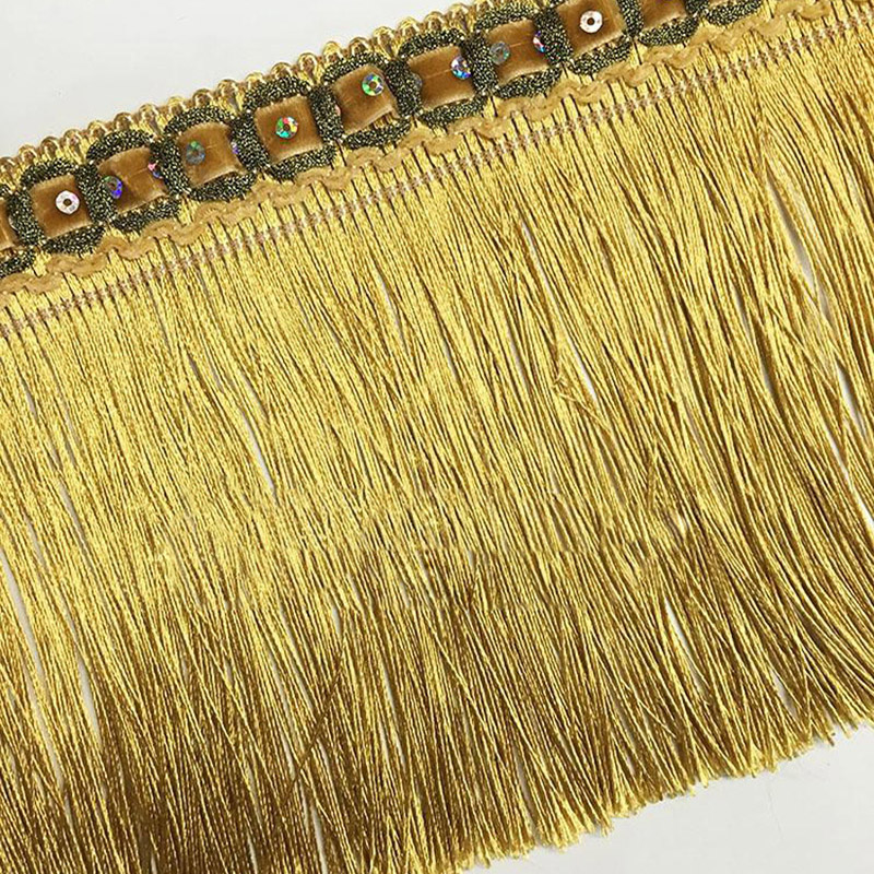 15CM Width Decorative Tassel Fringe Lace Trim For Curtain/Dress Decoration 11Meters Per Lot