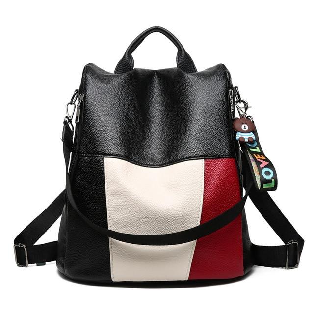 577d9ebf5b Women Backpack New Fashion Pu Leather Large Capacity Girls Travel Bag  School Bag Waterproof Shoulder Bag