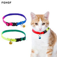 hot-sell-adjustable-breakaway-rainbow-nylon-small-rabbit-cat-collar-leash-breast-band-dog-lead-harness-goods-for-pets-with-bell