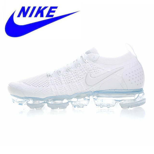 separation shoes 72d9e 6ff36 US $76.5 49% OFF|Original Nike Air Vapormax Flyknit Men's Running Shoes ,  White, Breathable Non slip Wear resistant Lightweight 942842 100-in Running  ...