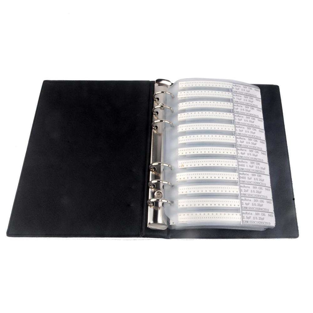 4000pcs 0402 SMD Capacitor Sample Book (0.5pF-1uF) 80 Value All Series Combo Kit SMT Pack Box Book