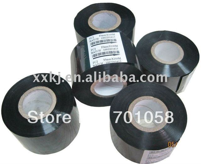 Black color 35mm*120M   Date code labels Print EXP/LOT for HP241B coder