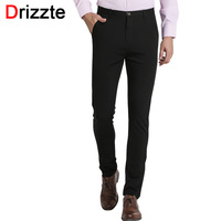 Drizzte Mens Classic Black Casual Pants Stretch Slim Pants Trousers Size 27 28 29 30 31