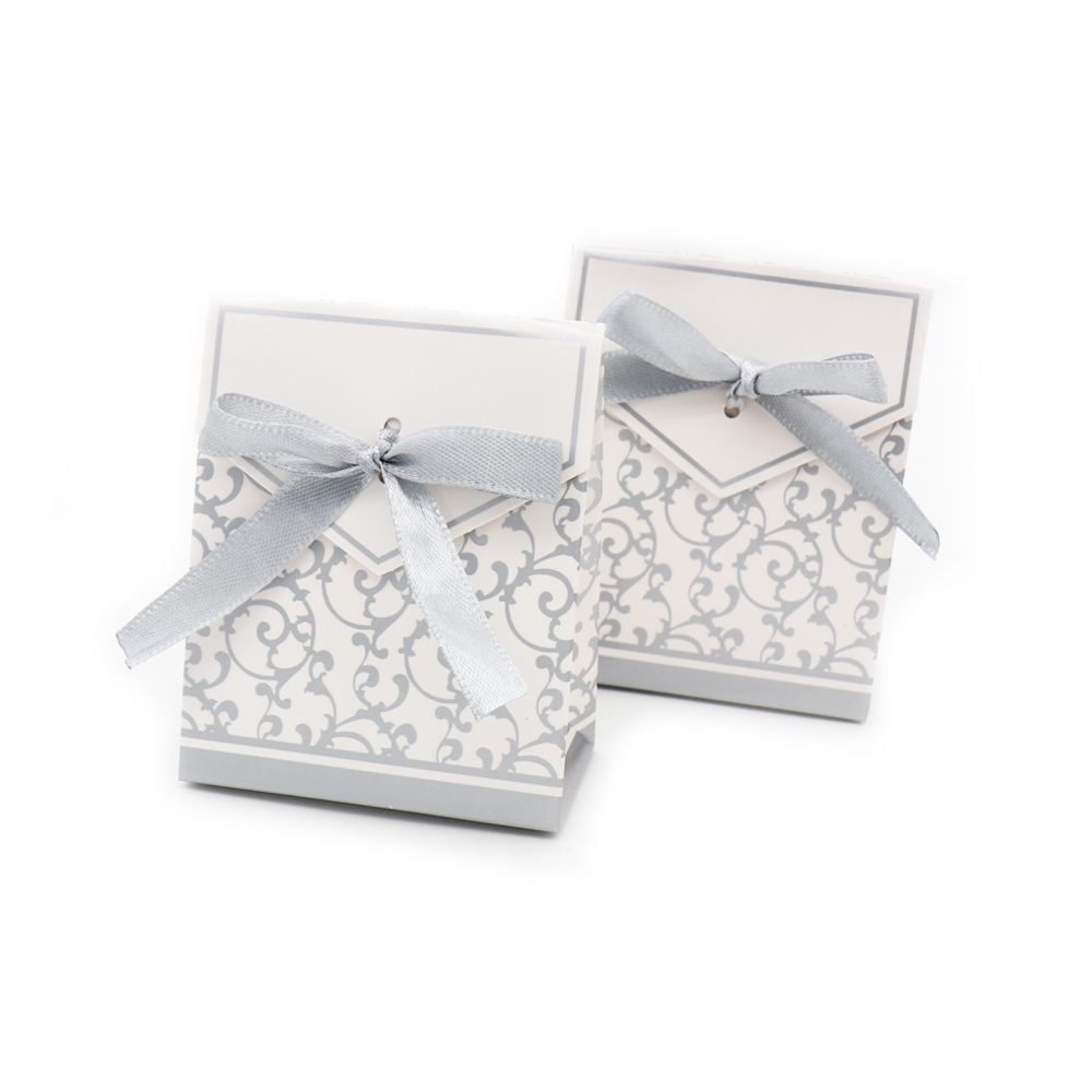 50pcs Gold silver Chocolates Cookie Candy Box Wedding favors Decor ...