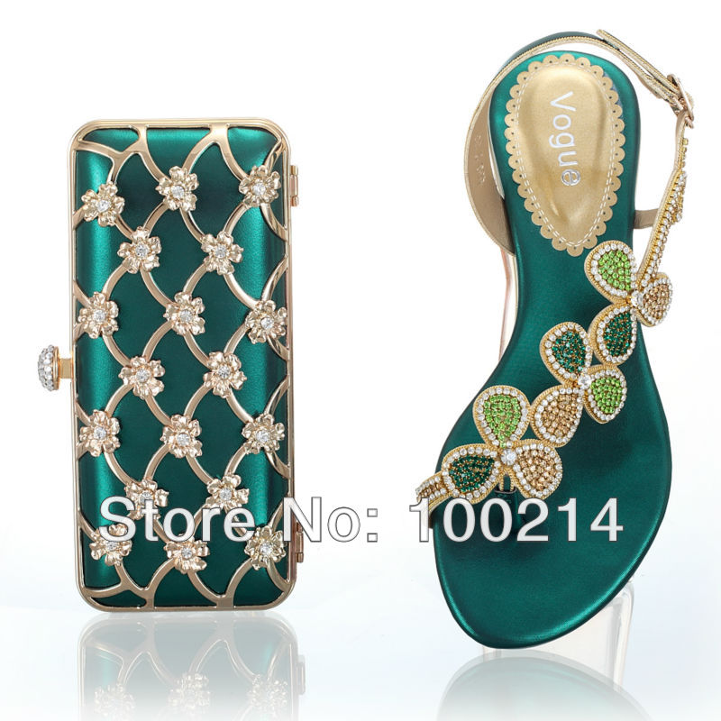 Free Shipping2013 New Arrival African Woman Designwedding Fashion Italian Shoes And Bags Set