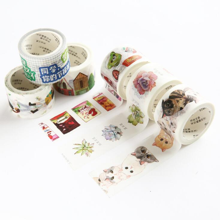 24 Pcs/lot Colorful Life Fly Washi Tape Adhesive Tape Diy Scrapbooking Sticker Label Masking Tape Good For Antipyretic And Throat Soother Office & School Supplies Office Adhesive Tape