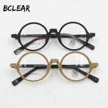 Винтажные оптические очки BCLEAR унисекс, круглые очки в ретро оправе для женщин и мужчин, оправа для очков