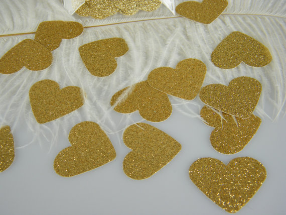 Table Party Scatters Confetti Foil Heart Wedding Engagement Decorations HY