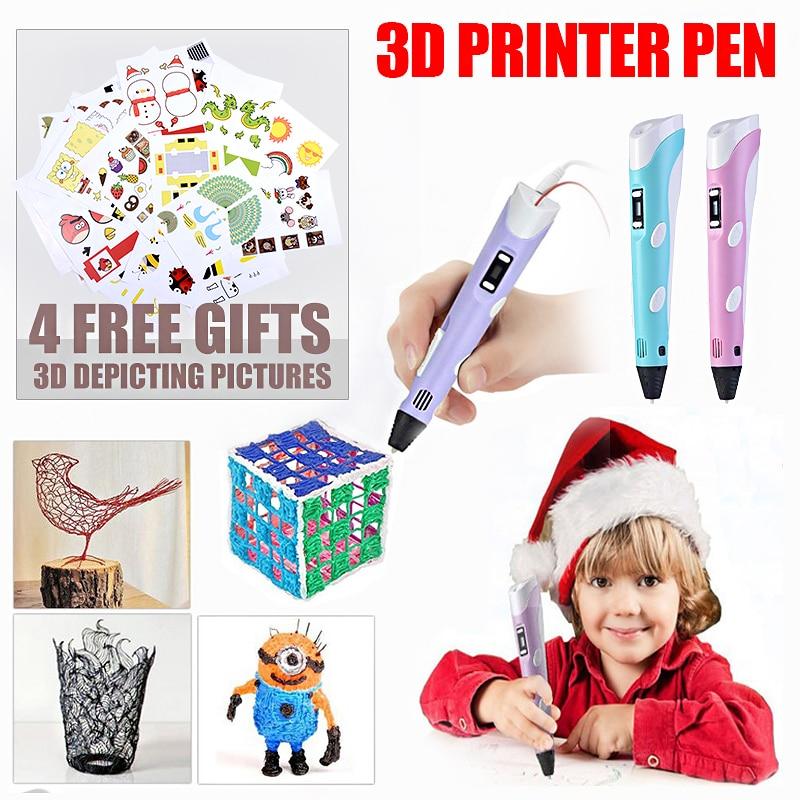 3D pluma de aprendizaje creativo juguetes para los niños de plástico de dibujo creatividad artes y artesanía kit de pintura de Educación de regalo de Navidad