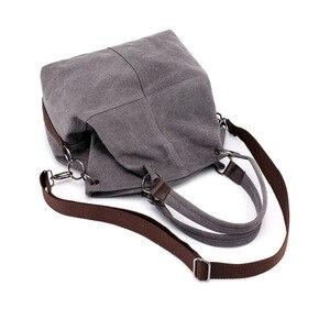 Image 4 - High Quality Canvas Women Handbag Casual Large Capacity Hobos Bag Hot Sell Female Totes Bolsas Trapeze Ruched Solid Shoulder Bag