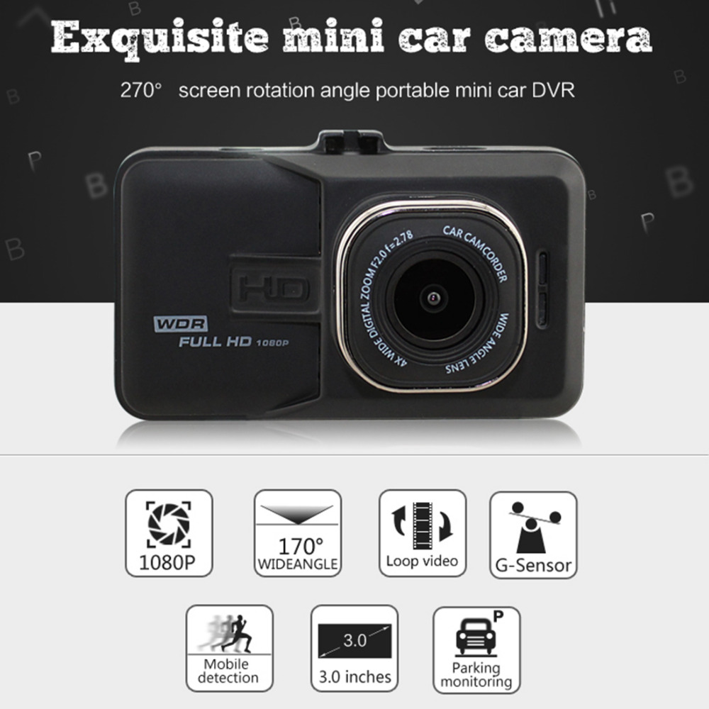 Car Dvr Recorder Car-Cam Color Camera Night-Vision 1920x1080p