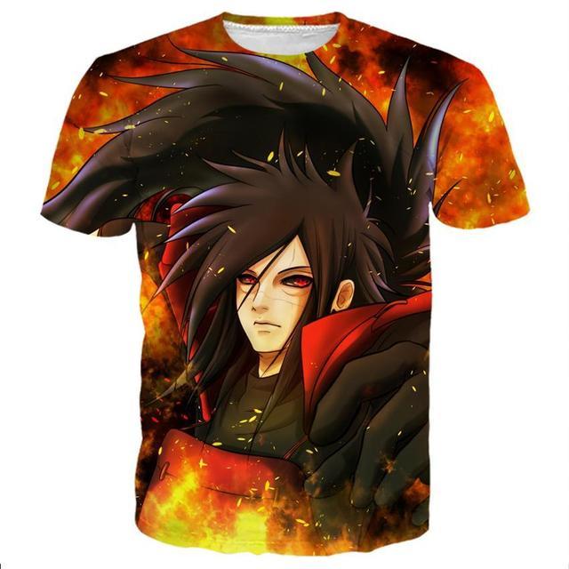 Cool Naruto 3D Print T-shirt