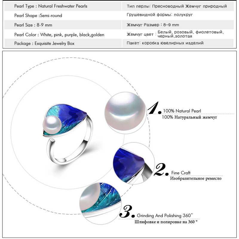MITUOแหวนหมั้น, 2017แฟชั่นใหม่C Loisonneแหวนมุก,โบฮีเมียนเครื่องประดับแหวนสำหรับผู้หญิงแต่งงานชาติพันธุ์แหวนความคิดสร้างสรรค์