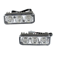Good Car Styling Waterproof Car High Power Aluminum LED Daytime Running Lights With Lens DC12v Xenon